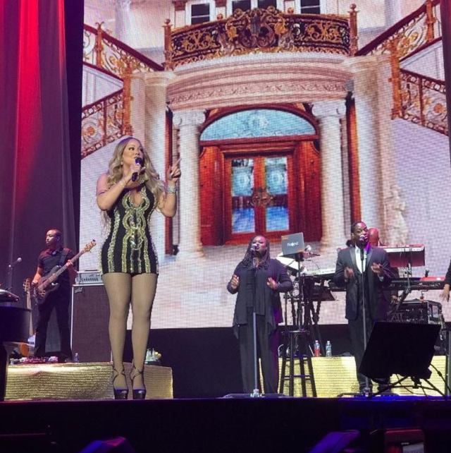 The star at a recent performance. (Photo: @mariahcarey/Instagram)