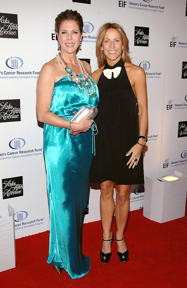 "Rita Wilson sports an unflattering aqua gown and loud Lanvin necklace, while her pal Sheryl Crow opts for an age-inappropriate halter dress. John Shearer/<a href=""http://www.wireimage.com"" target=""new"">WireImage.com</a> - February 10, 2009"