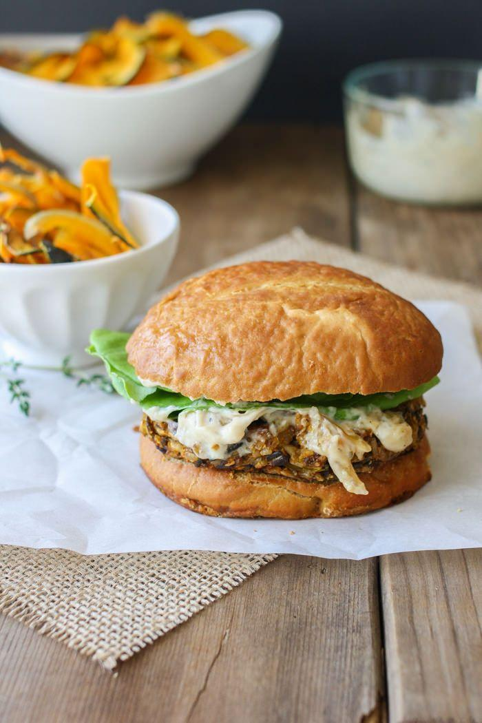 """<p>Sweet and savory flavors combine in this main course. Made with a rice medley, squash, shallots, and more, you've never tasted a burger quite like this. </p><p><strong>Get the recipe at <a href=""""http://www.veggiesdontbite.com/butternut-squash-apple-burgers/"""" rel=""""nofollow noopener"""" target=""""_blank"""" data-ylk=""""slk:Veggies Don't Bite"""" class=""""link rapid-noclick-resp"""">Veggies Don't Bite</a>.</strong></p>"""