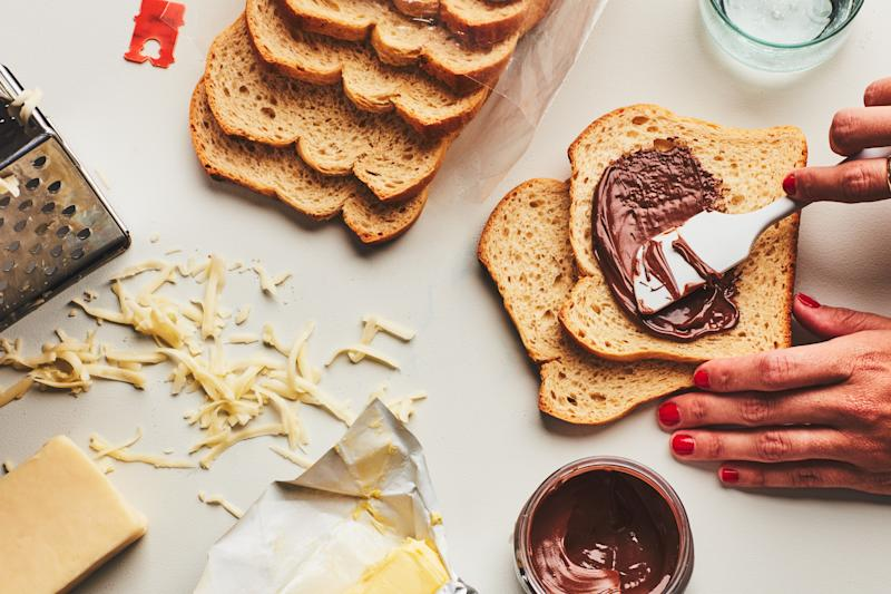 Nutella grilled cheese is crunchy and melty and warm and just the right mix of salty and sweet.