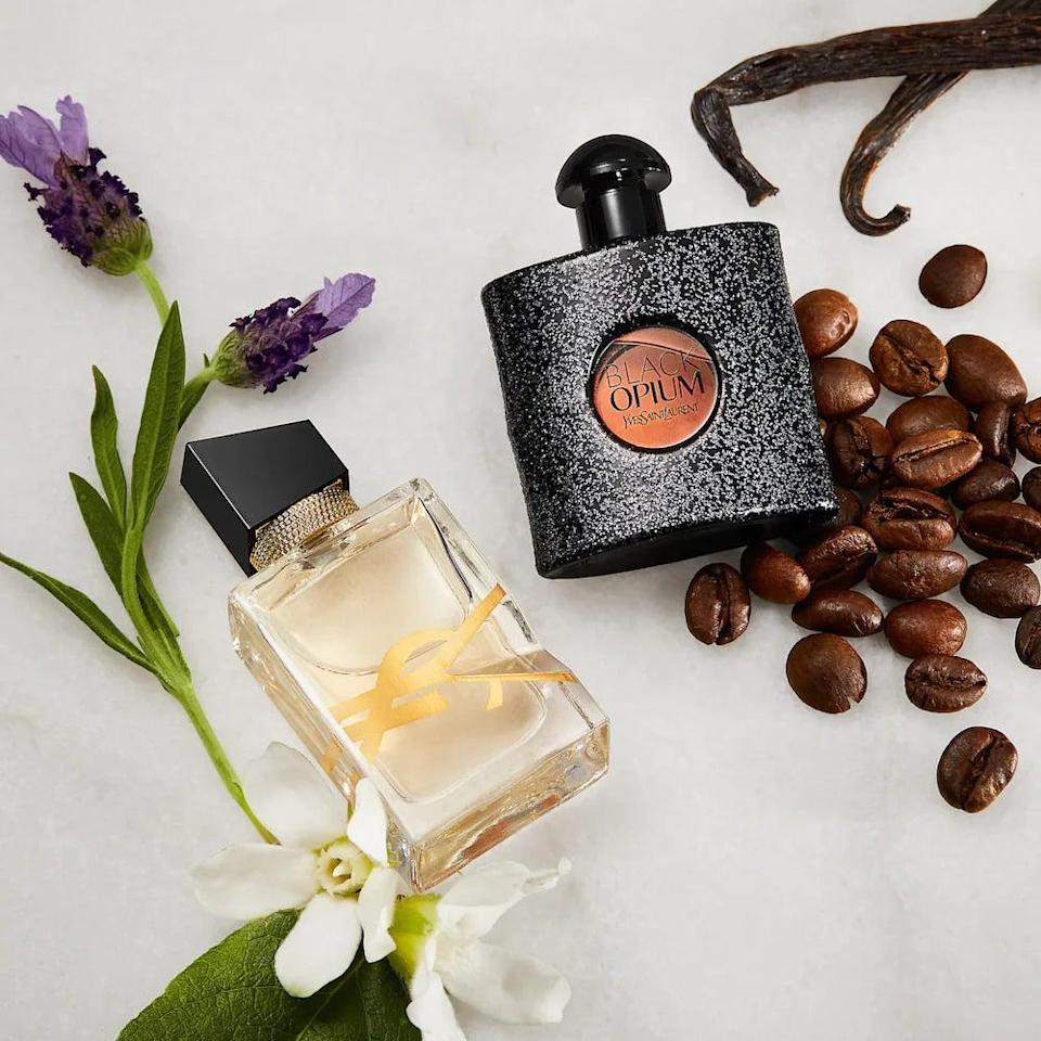 <p>If they love trying out new perfumes and figuring out their scent for the season, they'll truly enjoy the <span>Yves Saint Laurent Mini Black Opium &amp; Libre Eau de Parfum Duo</span> ($30). Libre is a floral scent that has notes of lavender, orange blossom, and musk accord. Black Opium is a seductive and spicy fragrance with notes of coffee, white flowers, and vanilla.</p>