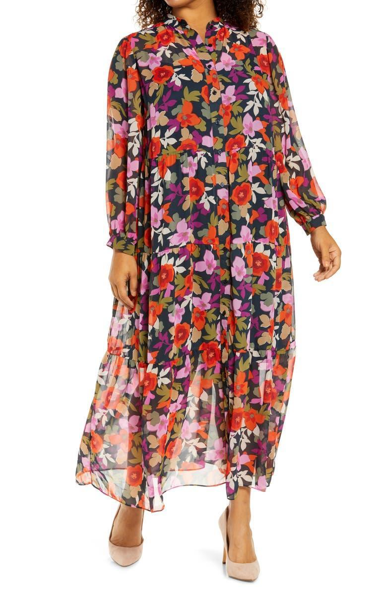 """<h2><a href=""""https://www.nordstrom.com/brands/maggy-london--1252"""" rel=""""nofollow noopener"""" target=""""_blank"""" data-ylk=""""slk:Up to 60% off Maggy London"""" class=""""link rapid-noclick-resp"""">Up to 60% off Maggy London</a></h2><br><strong><em>Next Best Deal:</em></strong><em> Since this Maggy London printed dress is currently sold out, try this still-in-stock <a href=""""https://www.nordstrom.com/s/eliza-j-floral-scuba-crepe-a-line-dress/5607813"""" rel=""""nofollow noopener"""" target=""""_blank"""" data-ylk=""""slk:Eliza J printed dress"""" class=""""link rapid-noclick-resp"""">Eliza J printed dress</a> instead!</em><br><br><strong>Maggy London</strong> Bold Floral Long Sleeve Shirtdress, $, available at <a href=""""https://go.skimresources.com/?id=30283X879131&url=https%3A%2F%2Fwww.nordstrom.com%2Fs%2Fmaggy-london-bold-floral-long-sleeve-shirtdress-plus-size%2F5926114"""" rel=""""nofollow noopener"""" target=""""_blank"""" data-ylk=""""slk:Nordstrom"""" class=""""link rapid-noclick-resp"""">Nordstrom</a>"""