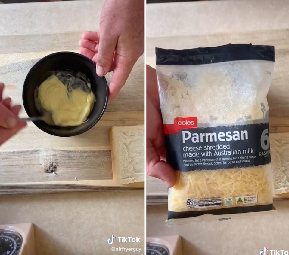 butter and parmesan cheese