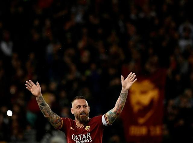 Daniele De Rossi is a hero to Roma fans having spent 18 years playing for his hometown club, the last two of which he was captain (AFP Photo/Filippo MONTEFORTE)