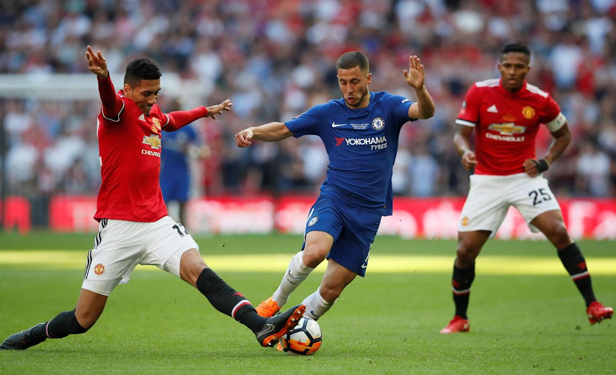 Eden Hazard was the difference in Saturday's FA Cup final between Chelsea and Manchester United. (Reuters)