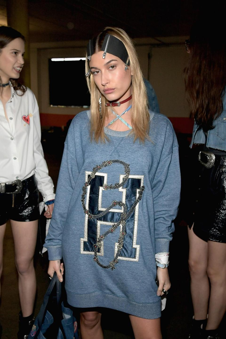 <p>Model Hailey Baldwin was one of several social media starlets to walk during the show. (Getty Images) </p>