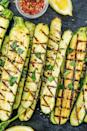"<p><a href=""https://www.delish.com/uk/cooking/recipes/a29840065/courgette-salad/"" rel=""nofollow noopener"" target=""_blank"" data-ylk=""slk:Courgette"" class=""link rapid-noclick-resp"">Courgette</a> is one of our favourite vegetables to grill in the summer. Why? It's healthy, it's easy, and it cooks SO FAST.</p><p>Get the <a href=""https://www.delish.com/uk/cooking/recipes/a31109622/grilled-zucchini-recipe/"" rel=""nofollow noopener"" target=""_blank"" data-ylk=""slk:Grilled Courgette"" class=""link rapid-noclick-resp"">Grilled Courgette</a> recipe.</p>"