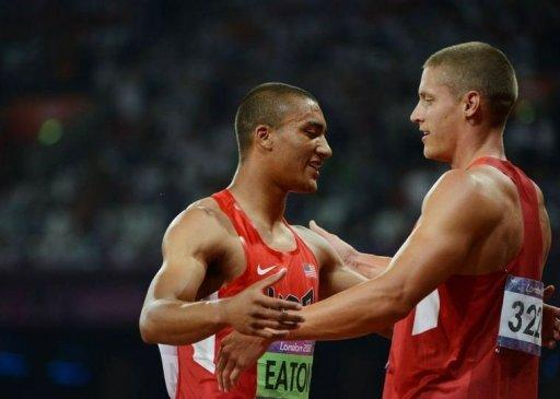 "Trey Hardee (right0 says Ashton Eaton (left) is ""the best athlete that has ever walked the planet"""