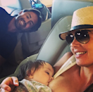 <p>Despite the backlash Formula 1 heiress Tamara received for two recent breastfeeding selfies, she's brought the 'brelfie' back with this lovely photo. Uploaded while on a (private) plane back from Mykonos, the mum-of-one is pictured breastfeeding her sixteen-month-old daughter, Sophia. <i>[Photo: Instagram/Tamara Ecclestone]</i> </p>