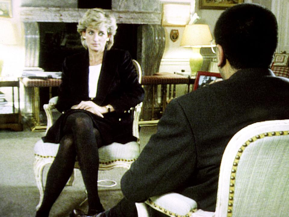 Diana, Princess of Wales, during her interview with Martin Bashir for the BBC, which is on a new chart of the most-watched programmes in the 80-year history of British television. (Photo: PA)