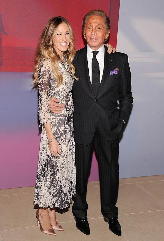Style queen Sarah Jessica Parker posed with the man of the hour -- Valentino Garavani -- at the launch party in NYC for a desktop application called the Valentino Garavani Virtual Museum, which will make the designer's archives available to everyone. When downloaded (for free!) at valentino-garavani-archives.org, users can access 300 of Valentino's most famous designs, in addition to fashion shows and video interviews. (12/07/2011)