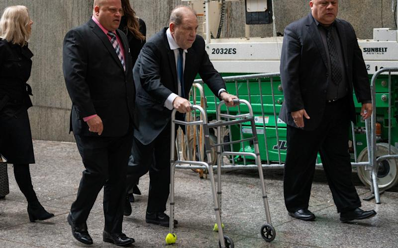 Harvey Weinstein arriving in court on Wednesday - Getty Images North America