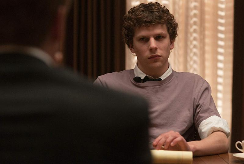 Jesse Eisenberg as Mark Zuckerberg in The Social Network.