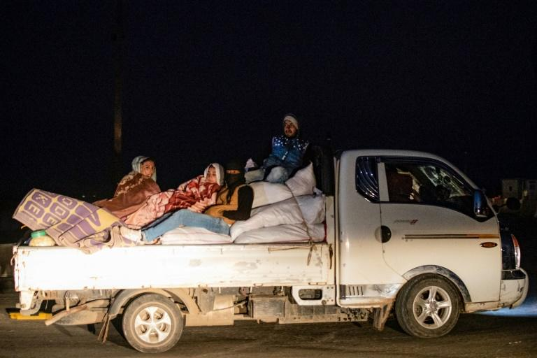 Residents of Tal Tamr fled their homes amid renewed clashes between Turkish-backed opposition fighers and Syrian regime forces in October