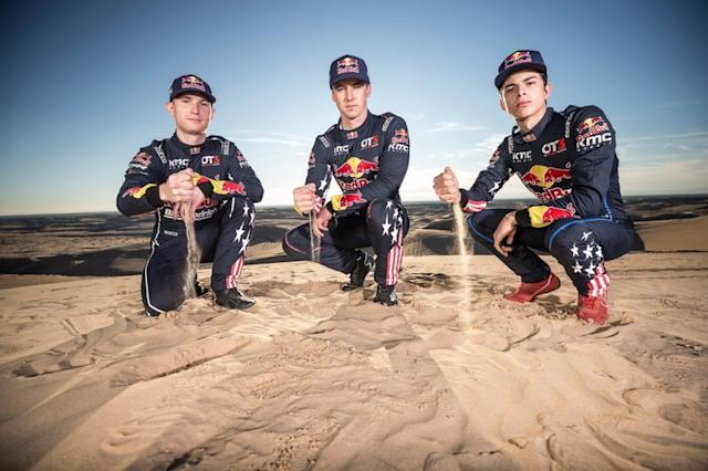 "Blade Hildebrand, Mitch Guthrie y Seth Quintero, miembros del equipo Red Bull Junior Off-Road <span class=""copyright"">Red Bull Content Pool</span>"