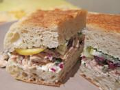 <p>Sometimes veggies have a tendency to make sandwiches soggy. The ones in this tuna, fennel, and lemon sandwich are tossed in the tuna, rather than stacked on top, to prevent this from happening. Plus, the preserved lemon on top of the tuna adds a fresh crunch in place of lettuce.</p>