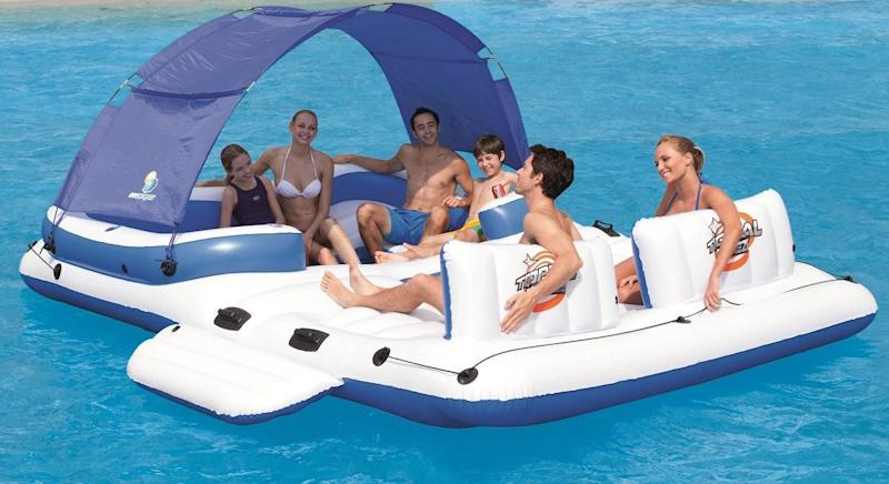 CoolerZ Tropical Breeze Inflatable Floating Island (Photo: Amazon)