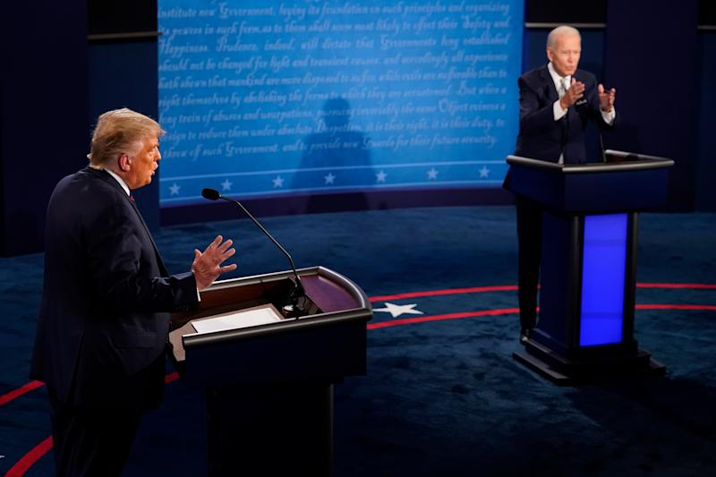 First presidential debate branded a 'disgrace' amid calls for second one to be cancelled (EPA)