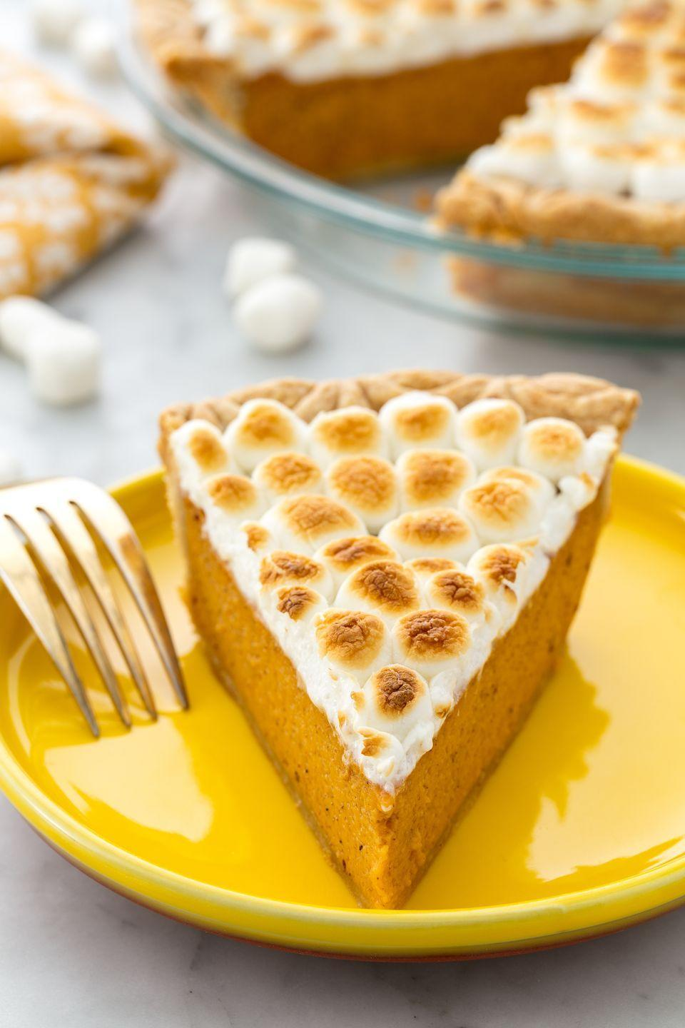 """<p>A sweet potato pie to accompany your sweet potato casserole at Thanksgiving.</p><p>Get the recipe from <a href=""""https://www.delish.com/cooking/recipe-ideas/recipes/a55690/best-sweet-potato-pie-recipe/"""" rel=""""nofollow noopener"""" target=""""_blank"""" data-ylk=""""slk:Delish"""" class=""""link rapid-noclick-resp"""">Delish</a>.</p>"""
