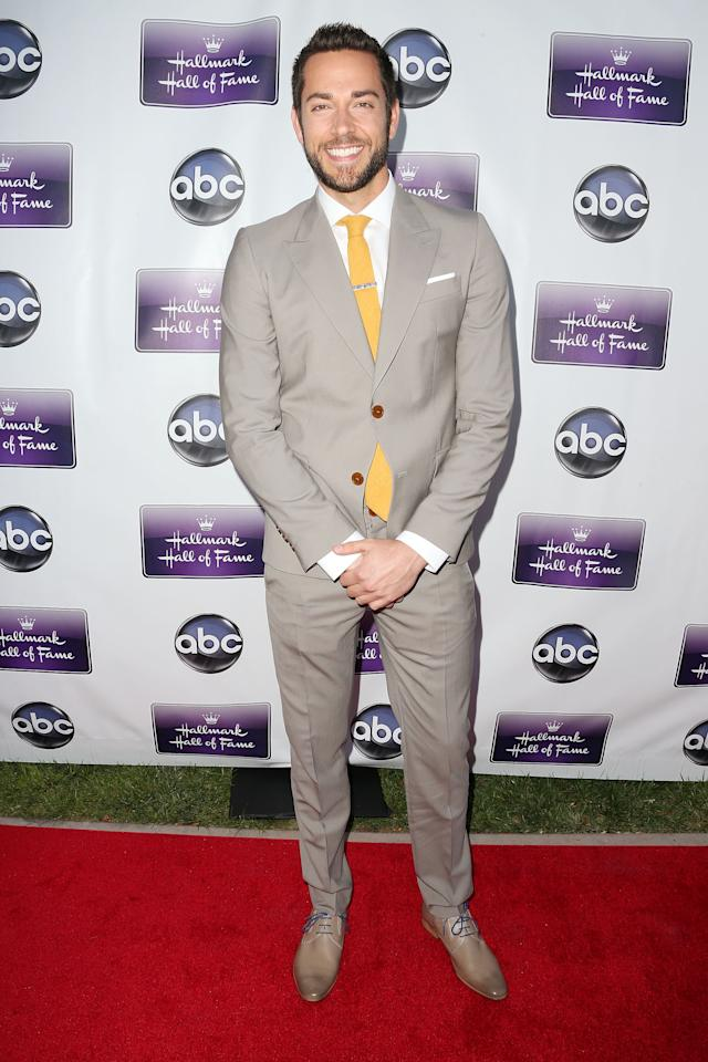 "CENTURY CITY, CA - APRIL 17: Actor Zachary Levi attends the premiere of Disney ABC Television and The Hallmark Hall of Fame's ""Remembering Sunday"" at the Fox Studio Lot on April 17, 2013 in Century City, California.  (Photo by Frederick M. Brown/Getty Images)"
