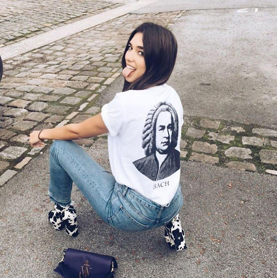 """<p><strong>The Classic Centre</strong></p><p>We're pretty obsessed with singer <a href=""""https://www.instagram.com/dualipa/?hl=en"""" rel=""""nofollow noopener"""" target=""""_blank"""" data-ylk=""""slk:Dua Lipa"""" class=""""link rapid-noclick-resp"""">Dua Lipa</a> 's voice and style (have you seen those boots and that <a href=""""http://www.refinery29.uk/2016/09/123313/jw-anderson-ss17-lfw"""" rel=""""nofollow noopener"""" target=""""_blank"""" data-ylk=""""slk:J.W.Anderson"""" class=""""link rapid-noclick-resp"""">J.W.Anderson</a> bag?!) but we're equally enamoured with her long, dark locks and simple centre parting.</p><span class=""""copyright"""">Photo: via @dualipa.</span>"""