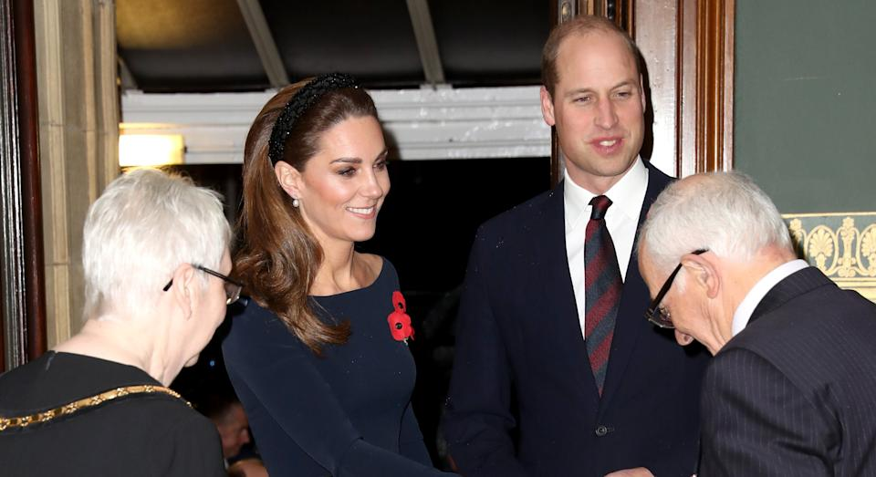 Kate Middleton arrived at the Festival of Remembrance last night with Prince William [Image: Getty]