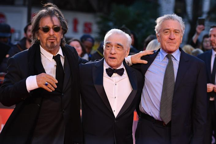 "<div class=""inline-image__title"">1175592168</div> <div class=""inline-image__caption""><p>Al Pacino, Martin Scorsese and Robert De Niro pose on the red carpet during the closing night gala of the 2019 BFI London Film Festival in London on October 13, 2019.</p></div> <div class=""inline-image__credit"">Daniel Leal-Olivas/AFP/Getty</div>"