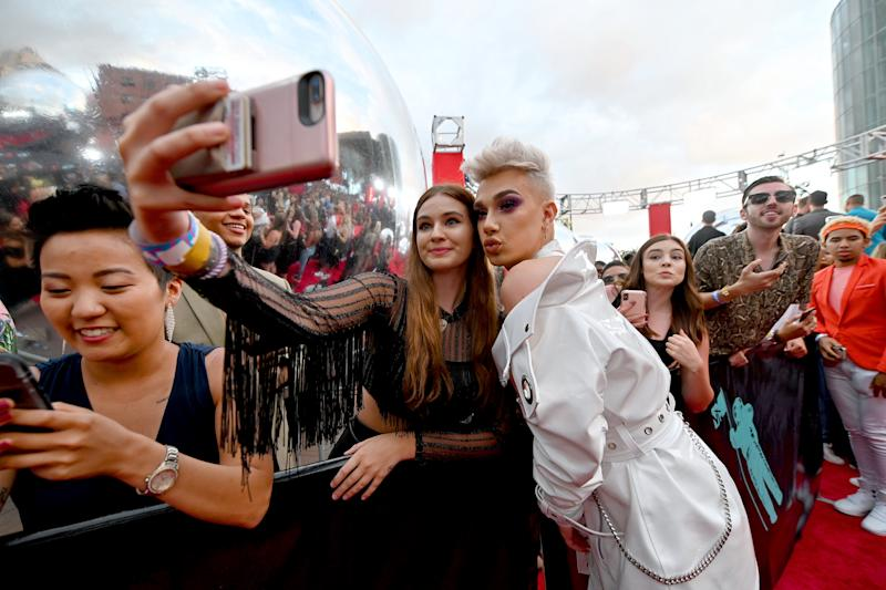 James Charles attends the 2019 MTV Video Music Awards at Prudential Center on August 26, 2019 in Newark, New Jersey. Photo: Dia Dipasupil/Getty Images for MTV