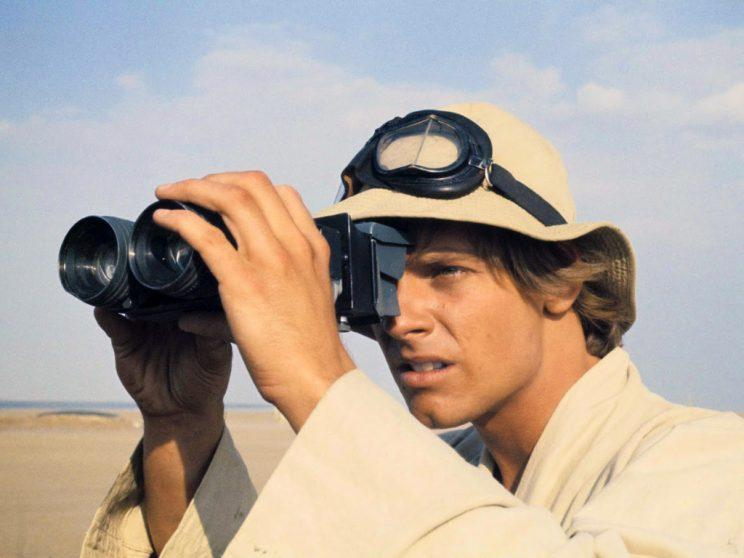 Mark Hamill as Luke Skywalker in Star Wars A New Hope