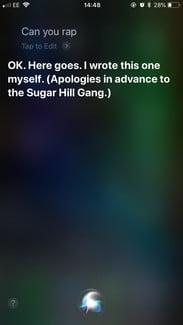funny questions to ask siri rap