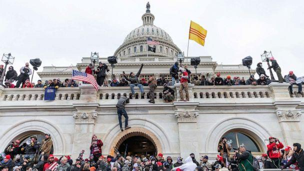 PHOTO: Trump supporters riot and breach the U.S. Capitol during the certification of the results of the 2020 Presidential election in Washington, Jan. 6, 2021. (Pacific Press/LightRocket via Getty Images, FILE)