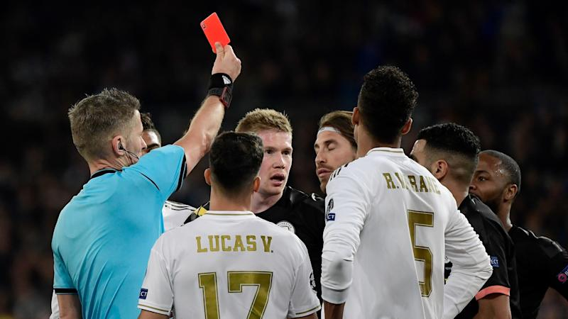 Sergio Ramos Manchester City Red Card Champions League