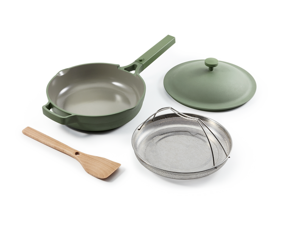 """<h2>Our Place Always Pan</h2><br>For the friend that cooks <em>everything</em>, gift an <a href=""""https://www.refinery29.com/en-us/2020/09/9999083/our-place-new-lavender-always-pan-2020"""" rel=""""nofollow noopener"""" target=""""_blank"""" data-ylk=""""slk:internet-famous (and R29-Editor-approved) pot"""" class=""""link rapid-noclick-resp"""">internet-famous (and R29-Editor-approved) pot</a> that can cook <em>anything</em>. <br><br><strong><em><a href=""""https://fromourplace.com/collections/all#filter=.essentials"""" rel=""""nofollow noopener"""" target=""""_blank"""" data-ylk=""""slk:Shop Our Place"""" class=""""link rapid-noclick-resp"""">Shop Our Place</a></em></strong><br><br><strong>Our Place</strong> Always Pan, $, available at <a href=""""https://go.skimresources.com/?id=30283X879131&url=https%3A%2F%2Ffromourplace.com%2Fproducts%2Falways-essential-cooking-pan"""" rel=""""nofollow noopener"""" target=""""_blank"""" data-ylk=""""slk:Our Place"""" class=""""link rapid-noclick-resp"""">Our Place</a>"""
