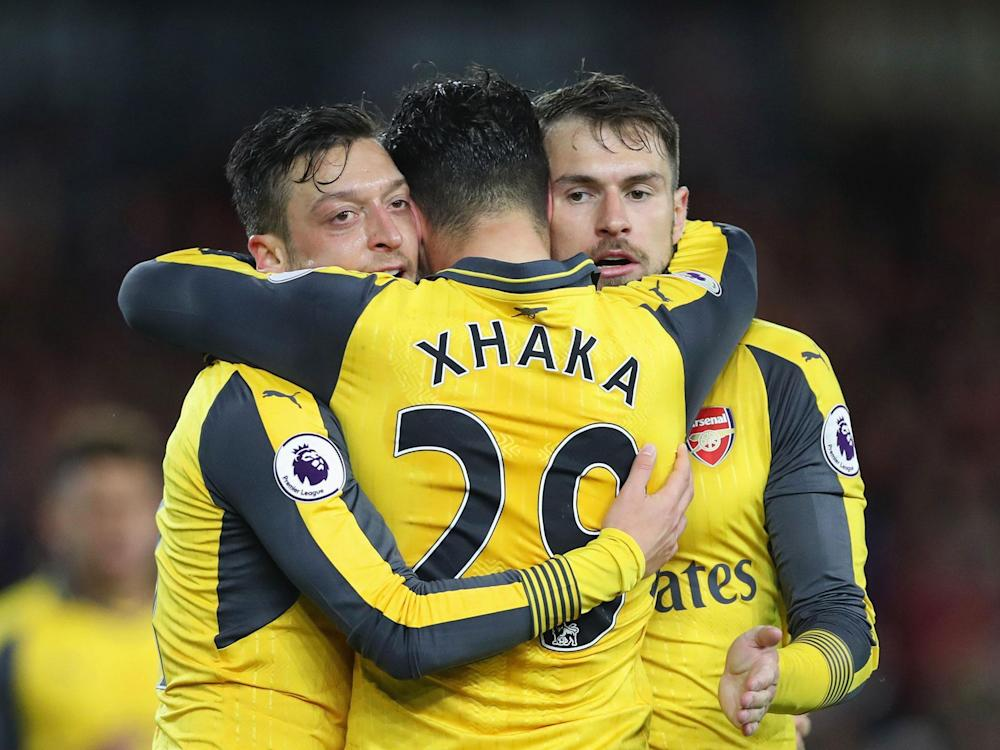 Mesut Ozil helped end a run of four consecutive away league defeats: Getty