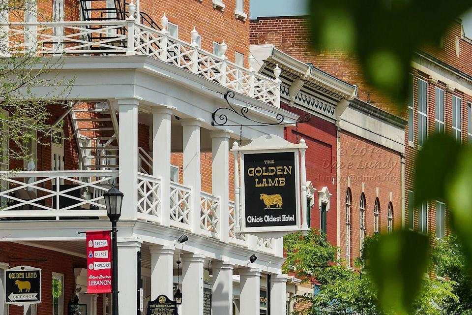"<p>The Golden Lamb holds the title of oldest hotel in <a href=""https://www.housebeautiful.com/design-inspiration/real-estate/a4439/ohio-mansion-with-fifties-diner/"" rel=""nofollow noopener"" target=""_blank"" data-ylk=""slk:Ohio"" class=""link rapid-noclick-resp"">Ohio</a>, and it also happens to house the state's oldest restaurant as well. Twelve American presidents have paid visits to Lebanon, and stayed at the historic, colonial-style establishment.<br></p><p><strong>EXPLORE NOW:</strong> <a href=""https://www.tripadvisor.com/Hotel_Review-g50541-d122161-Reviews-The_Golden_Lamb_Inn-Lebanon_Ohio.html"" rel=""nofollow noopener"" target=""_blank"" data-ylk=""slk:The Golden Lamb Inn"" class=""link rapid-noclick-resp"">The Golden Lamb Inn</a></p><p><em>Image via <a href=""https://www.flickr.com/photos/lundyd/14009554750/in/photolist-iuB69C-iFbj9P-iqCokx-jYQKna-k2266B-jBQSYN-nkYCxq"" rel=""nofollow noopener"" target=""_blank"" data-ylk=""slk:DAVE LUNDY"" class=""link rapid-noclick-resp"">DAVE LUNDY</a>/Flickr</em></p>"