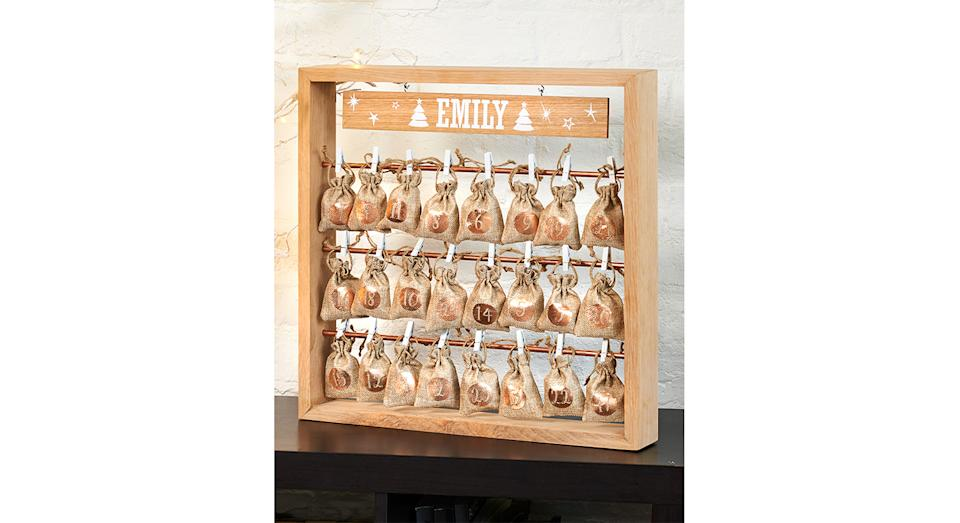 Personalised Wooden Christmas Advent Calendar. (Joules)