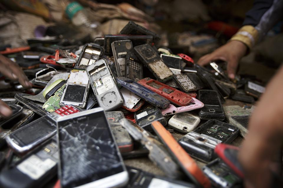 Smartphone discarded consumer electronics