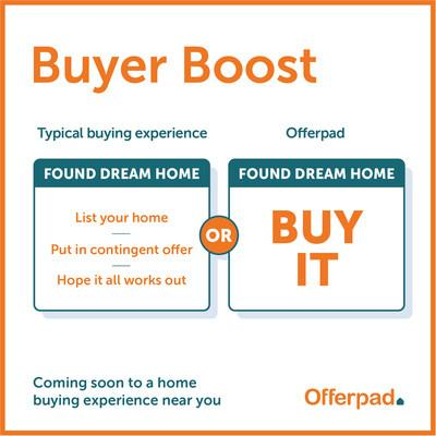 With Offerpad Buyer Boost, Offerpad can purchase a home using a cash offer on the homebuyer's behalf.