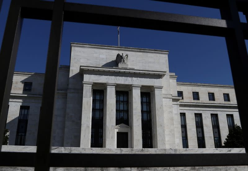 Federal Reserve Board building is pictured in Washington