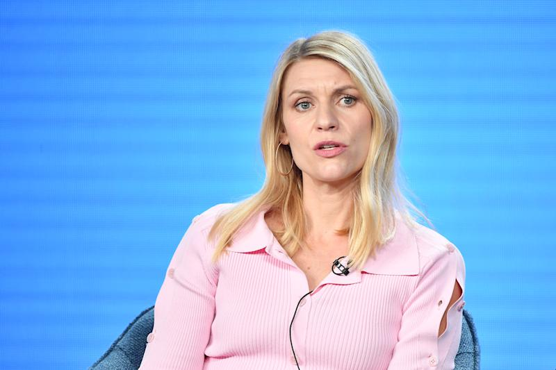 "PASADENA, CALIFORNIA - JANUARY 13: Claire Danes of ""Homeland"" speaks during the Showtime segment of the 2020 Winter TCA Press Tour at The Langham Huntington, Pasadena on January 13, 2020 in Pasadena, California. (Photo by Amy Sussman/Getty Images)"