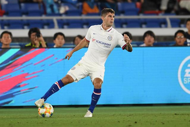 Christian Pulisic came on as a substitute during Chelsea's preseason loss to Kawasaki Frontale. (Getty)