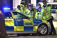 <p>Police react to the latest developments at the scene of the explosion in West London. (PA) </p>