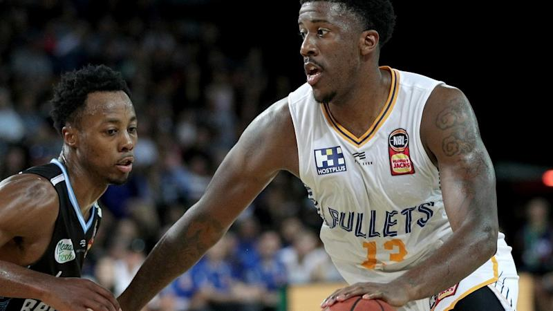 Lamar Patterson (R) with a game-high 18 points has led Brisbane to a NBL win over the NZ Breakers