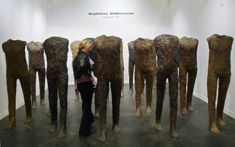 Abakanowicz's figures have been shown at museums around the world