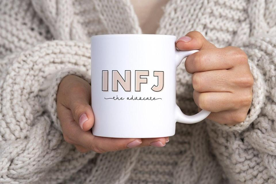 <p>An INFJ will happily remind you that they are, in fact, the rarest personality type. Give them this <span>INFJ Mug</span> ($19) so they can celebrate and proudly rep their personality type.</p>
