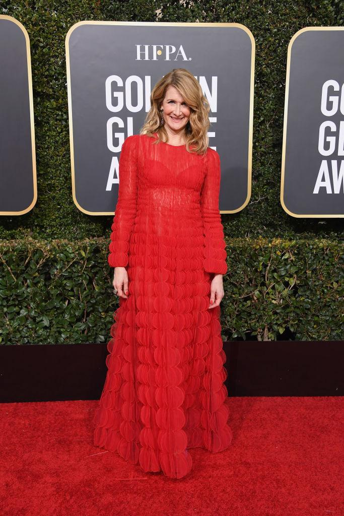 <p>Laura Dern attends the 76th Annual Golden Globe Awards at the Beverly Hilton Hotel in Beverly Hills, Calif., on Jan. 6, 2019. (Photo: Getty Images) </p>