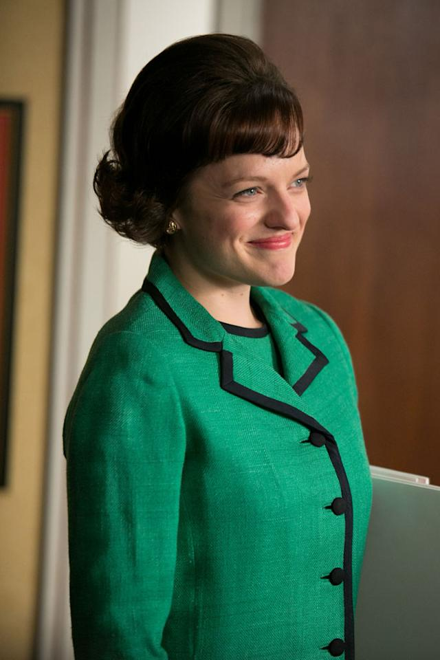 "Peggy Olson (Elisabeth Moss) in the ""Mad Men"" episode, ""Favors."""