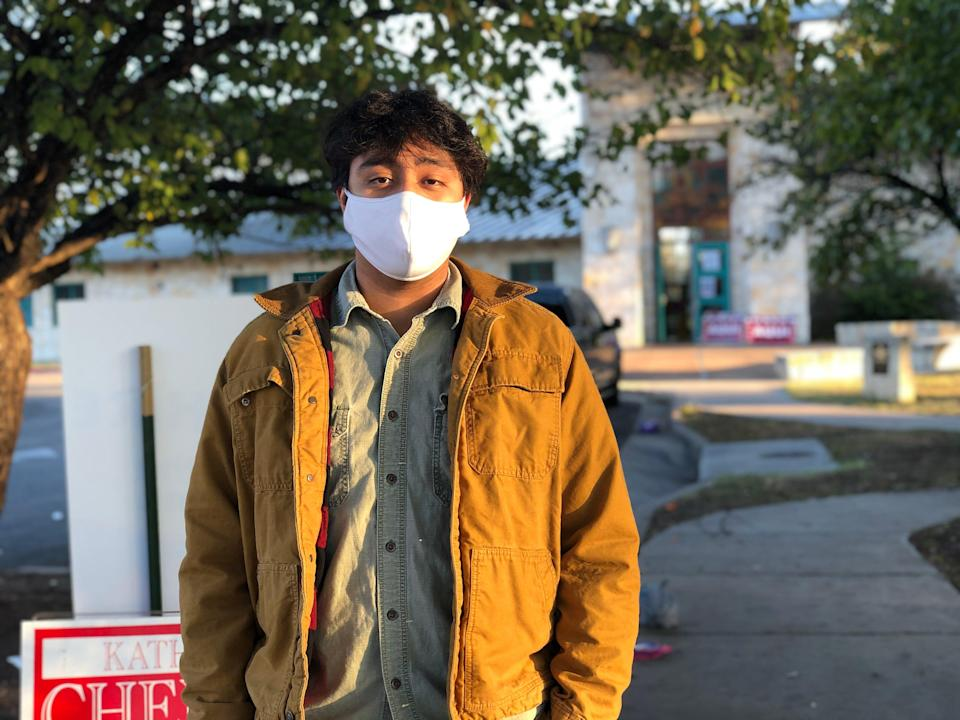 Sesh Herrera, who voted Tuesday in Austin, Texas, said the Trump administration's immigration policies, which resulted in him not seeing many of his friends who feared deportation, helped guide his political choice this election day.