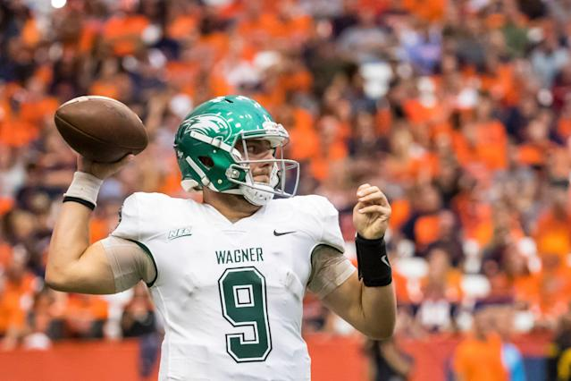 Quarterback T.J. Linta is trying to make it to the NFL, and he'll do it with help from his father - longtime agent Joe Linta. (Getty Images)