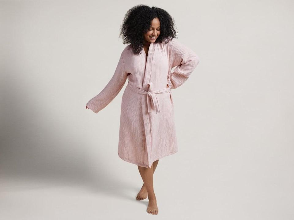 """<p>""""The <span>Parachute Cloud Cotton Robe</span> ($99) is one of my favorite lounge pieces. I wear mine beyond just getting out of the shower; in fact, I might even spend an entire day working from home in it. I'm in need of a new one this year, and the blush shade is just perfect."""" - KJ</p>"""